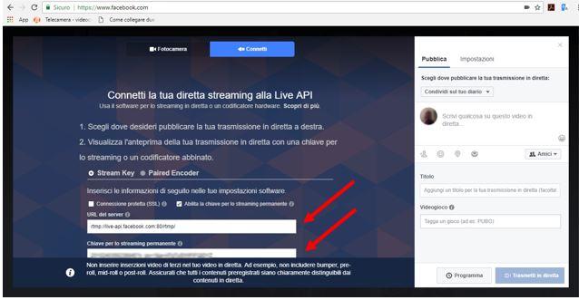 Facebook Diretta Live