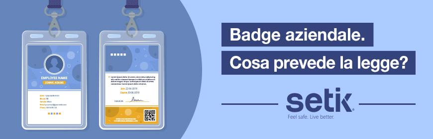 Obbligo badge aziendale